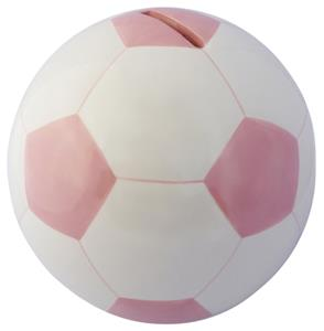 Soccer Ball Pink Money Bank
