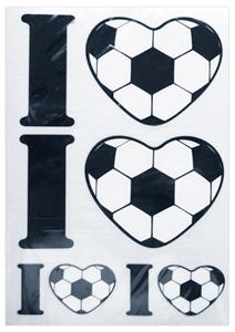 "I ""Heart"" Soccer Decals"