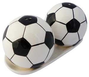 Soccer Ball Salt and Pepper Shakers