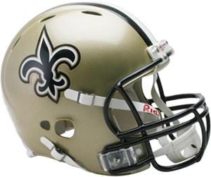 NFL Saints On-Field Full Size Helmet (Revolution)