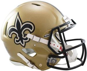 NFL Saints On-Field Full Size Helmet (Speed)