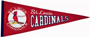 Winning Streak Cardinals MLB Cooperstown Pennant