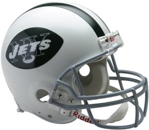 NFL Jets (65-77) On-Field Full Size Helmet (TB)