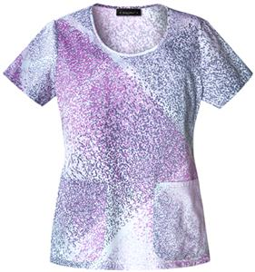 Baby Phat Women&#39;s Retro Speck Scrubs Top