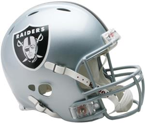 NFL Raiders On-Field Full Size Helmet (Revolution)