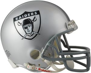 NFL Raiders (63) Mini Replica Helmet -Throwback