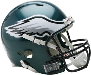 NFL Eagles On-Field Full Size Helmet (Revolution)