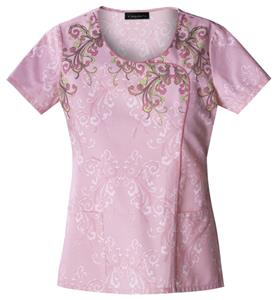 Baby Phat Women's If It's Not Baroque Scrubs Top