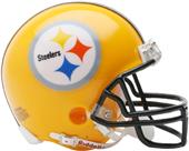 NFL Steelers Gold 07 Mini Replica Helmet Throwback