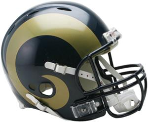 NFL Rams On-Field Full Size Helmet (Revolution)