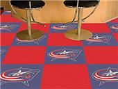 Fan Mats NHL Columbus Blue Jackets Carpet Tiles