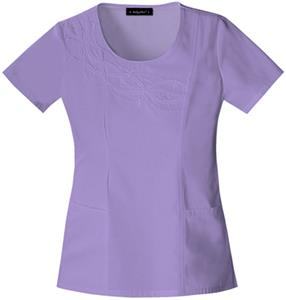 Baby Phat Women&#39;s Scoop Neck Scrubs Lavender Top