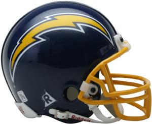 NFL Chargers (74-87) Mini Replica Helmet Throwback