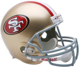 NFL 49ers Deluxe Replica Full Size Helmet
