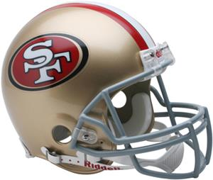 NFL 49ers On-Field Full Size Helmet (VSR4)