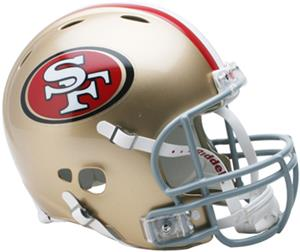 NFL 49ers On-Field Full Size Helmet (Revolution)