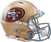 NFL 49ers On-Field Full Size Helmet (Speed)