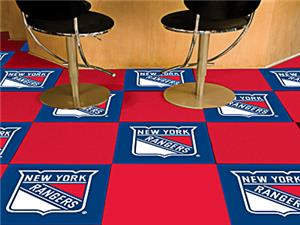 Fan Mats NHL New York Rangers Carpet Tiles