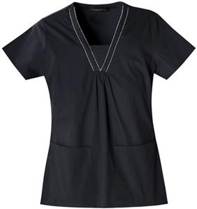 Baby Phat Women's V-Neck Scrubs Top