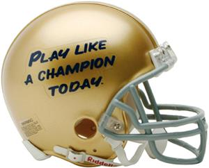 NCAA Notre Dame P.L.A.C.T. Mini Helmet (Replica)