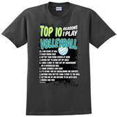 Image Sport Top 10 Reasons I play Volleyball Tee