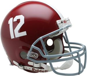 NCAA Alabama #12 On-Field Full Size Helmet (VSR4)