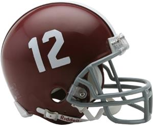 NCAA Alabama #12 Mini Helmet (Replica)