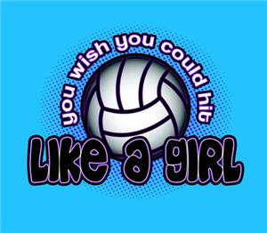 Hit Like A Girl Volleyball Tshirts Gifts Volleyball