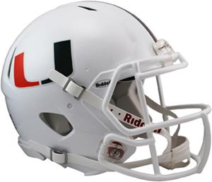 NCAA Miami Full Size Speed Authentic Helmet