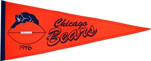 Winning Streak NFL Chicago Bears Throwback Pennant