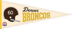 Winning Streak NFL Denver Broncos Pennant
