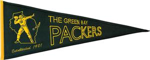 Winning Streak NFL GB Packers Throwback Pennant
