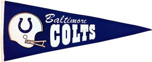 Winning Streak NFL Baltimore Colts Pennant
