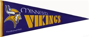 Winning Streak NFL Vikings Throwback Pennant