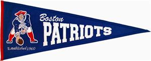 NFL New England Patriots Throwback Pennant