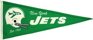 Winning Streak NFL New York Jets Throwback Pennant