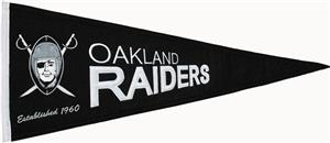 Winning Streak NFL Raiders Throwback Pennant