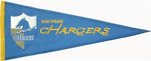 San Diego Chargers NFL Throwback Pennant