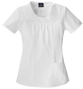 Baby Phat Women&#39;s Round Neck Scrubs Top 26864