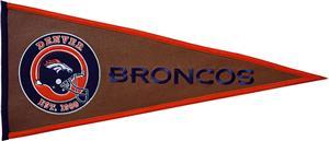 Winning Streak NFL Denver Broncos Pigskin Pennant