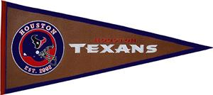 Winning Streak NFL Houston Texans Pigskin Pennant