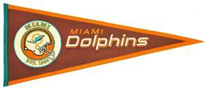 Winning Streak NFL Miami Dolphins Pigskin Pennant