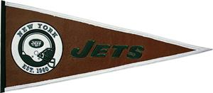 Winning Streak NFL New York Jets Pigskin Pennant
