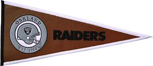Winning Streak NFL Oakland Raiders Pigskin Pennant