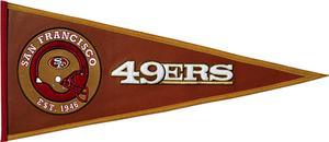 Winning Streak NFL49ers Pigskin Pennant