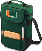 Picnic Time University of Miami Duet Wine Tote