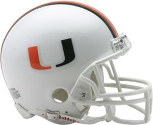 NCAA Miami Mini Helmet (Replica)