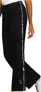 Baby Phat Women&#39;s Kingdom Zebra Print Scrubs Pants
