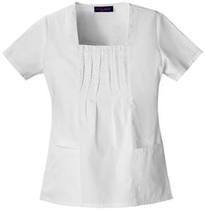 Baby Phat Women's Square Neck Scrubs Top