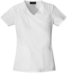 Baby Phat Women's Mock Wrap Scrubs Top
